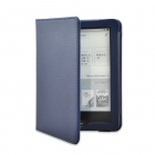 """Lychee Grain Style Protective PU Leather Case for Tolino Vision 6"""" - Dark Blue"""