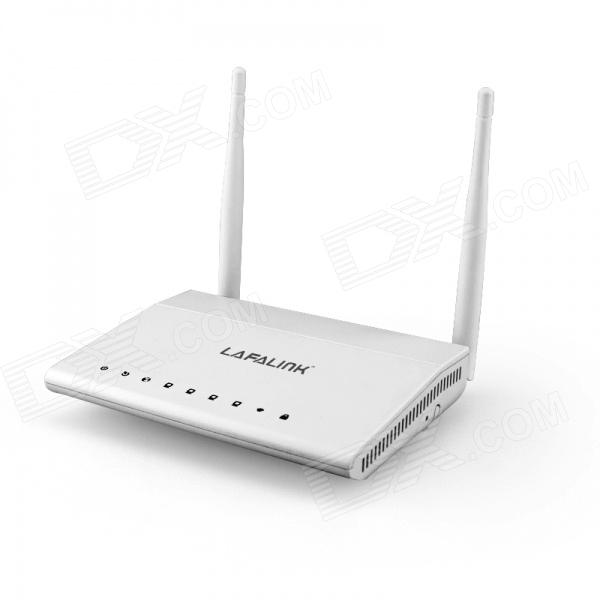 LAFALINK DS124W 300Mbps Wireless ADSL2 + Router Modem w / double-antenne - Blanc