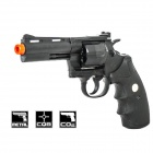 "Genuine Crown Model Colt Python 4"" 357 Revolver Airsoft Gun - Black"