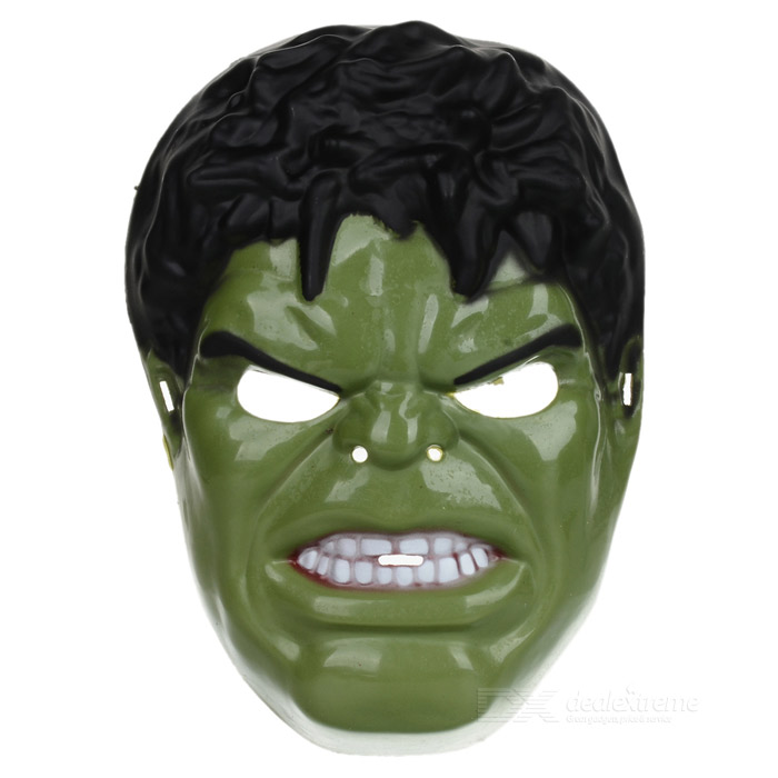 Cartoon The Hulk Shaped Plastic Mask - Green