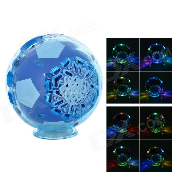 S-20 Mini Football Shaped 2.0-CH Speaker w/ FM / TF- Blue + Transparent (16GB Max.)