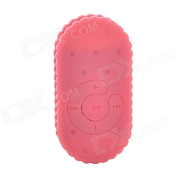 S-What Biscuit Shaped 3.5mm MP3 Player w/ TF - Pink
