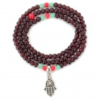 Fenlu BLZ-009 Women's Fashionable Glass Bead Charm Bracelet - Claret Red