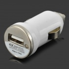 5V 1A USB Car Cigarette Lighter Charger w/ Charging Cable for Samsung Galaxy S3 / S4 + More - White