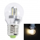 E27 4W 300LM 2700K 32-SMD 3014 LED Warm White Light Bulb - Silver (AC 85 ~ 265V)