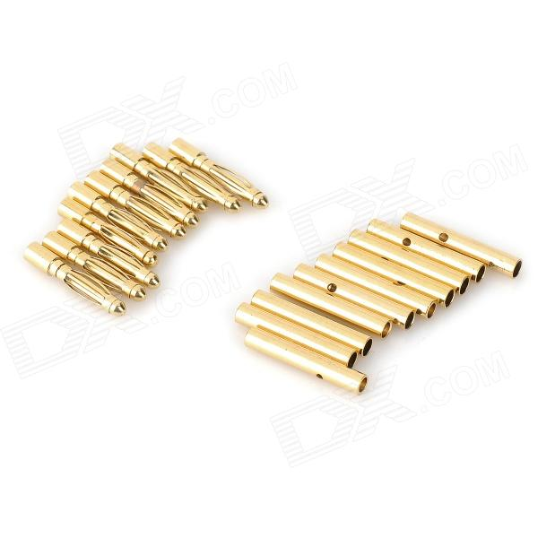 2.0mm Gold Plated Banana Connector Set - Golden (20 PCS) gold plated loudspeaker cable banana plugs connectors black golden 5 pcs
