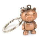 Cute Bear Style Zinc Alloy Key Ring - Redish Brown + Silver