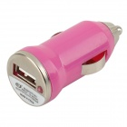 5V 1A USB Car Cigarette Lighter Charger w/ Charging Cable for Samsung Galaxy Note 3 / S5 - Deep Pink