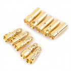 3.5mm Male + Female Banana Connector Set for Model - Golden (10PCS)