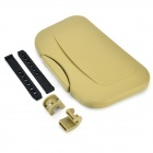 Ojx Multi-Function PP + TPR Foldable Car Seat Back Dinner Plate Tray - Khaki