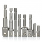 HF-979005 Hex to Square Screwdriver / Drill Sleeve Adapter Set - Silvery Grey (8 PCS)