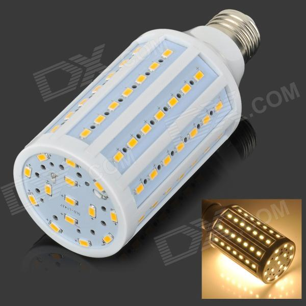 E27 15W 1400lm 3500K 84-5730 SMD LED Warm White Lamp - White + Silvery Grey + Multicolored (AC 220V) e27 10w 950lm 6500k 56 smd 5730 led white corn lamp white silvery grey ac 220 240v