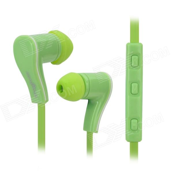 Nameblue ST-11 Sports Bluetooth V4.0 In-Ear Headphones w/ Microphone - Green nameblue st 33 sports bluetooth v4 0 in ear earphone headphone set w microphone volume control