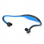 Sports sem fio Behind-the-Neck MP3 Headphone w / TF / FM / USB - Preto + Azul