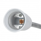 Replacement E-27 Screw Socket Lamp base w/ Adjustable Tube - White + Silver (50cm)