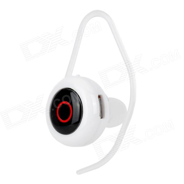 1-to-2 Bluetooth V4.0 In-Ear Smart Voice Caller ID Music Headset w/ Ear Hook / Mic. / USB - Black