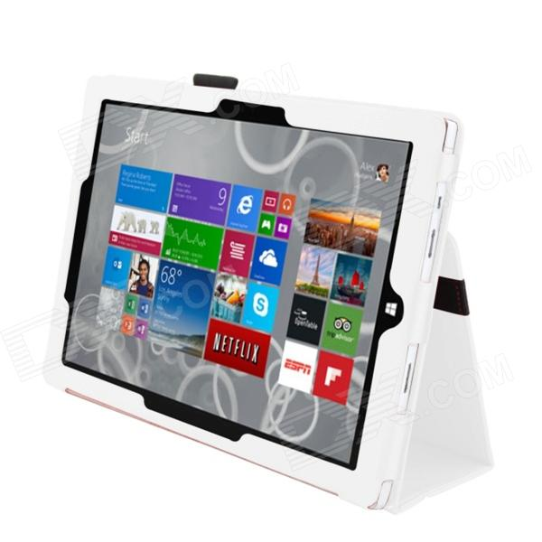 Protective PU Leather Stand Case for Microsoft Windows Surface Pro 3 12'' - White