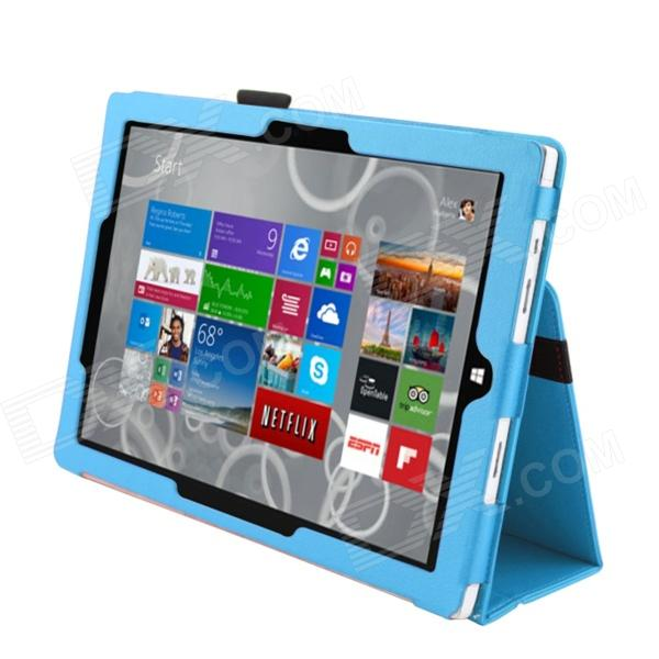 Protective PU Leather Stand Case for Microsoft Windows Surface Pro 3 12'' - Light Blue