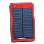 "Portable ""15000mAh"" Li-polymer Battery Dual-USB Solar Powered Power Bank w/ LED Indicator - Red"