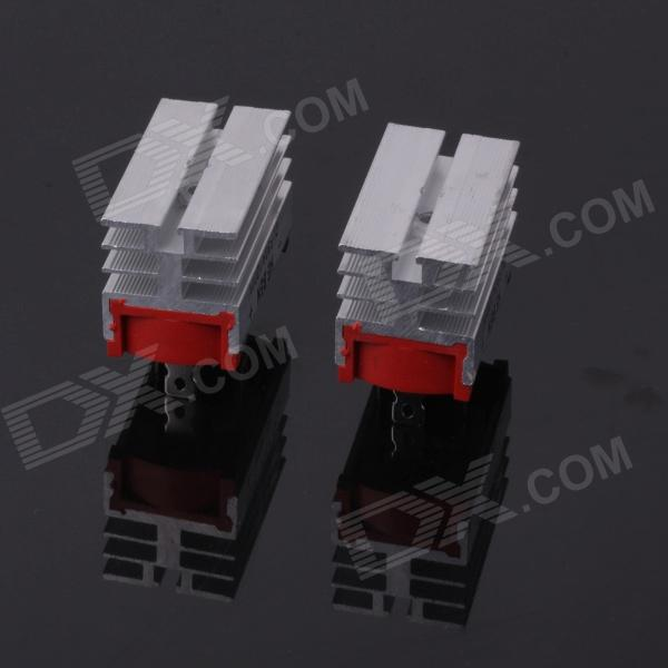 где купить  ZnDiy-BRY SQLF-50A Aluminium Alloy 50A 1200V Single Phase Bridge Rectifiers - Silver (2 PCS)  дешево