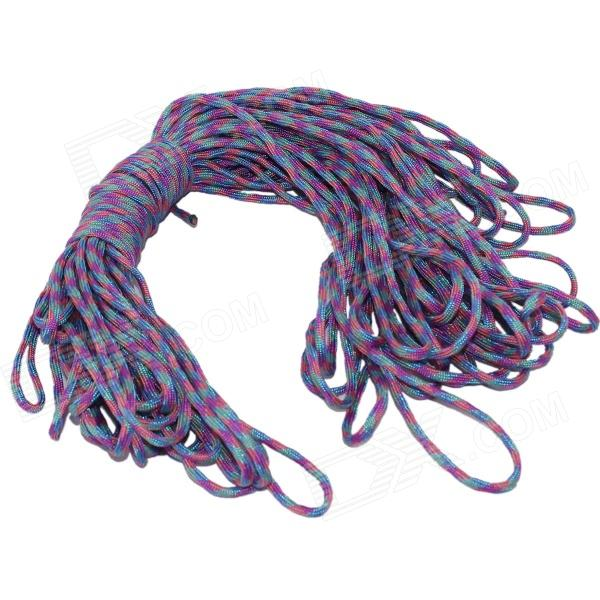 Survival Parachute Cord Paracord - Purple (30m / 140kg Max. Tensile) oumily 9 core glow in the dark outdoor survival parachute rope