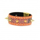 IN-Color Fashionable Punk Style Golden Rivet Bracelet - Orange