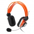 Jeway JH2700 Professional Wired Stereo Game Headset w/ Microphone - Black + Orange