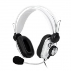 Jeway JH2700 Professional Wired Stereo Game Headset w/ Microphone - Black + White