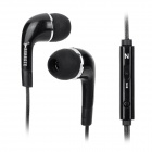BSBESTE Q10 3.5mm Jack Wired Glow-in-the-dark Earphone w/ Microphone - Black
