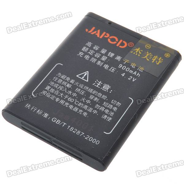 Japod BL-5B Replacement 3.7V 900mAh Li-Ion Battery for Nokia 5208/5320XM/6122C + More