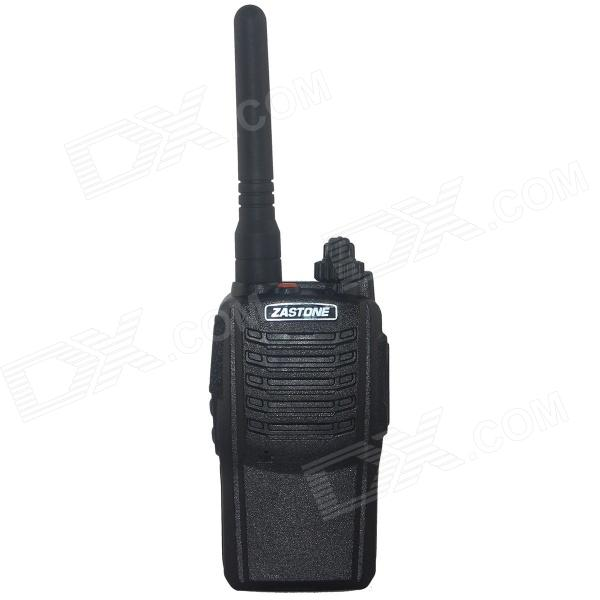 Zastone ZT-V6 UHF Professional Walkie Talkie - Black zastone t 2000 uhf16 ch radio walkie talkie w flashlight black