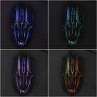 USB 2.0 Wired 3D Vivid 1600dpi Gaming Mouse w/ Colorful Light - Black