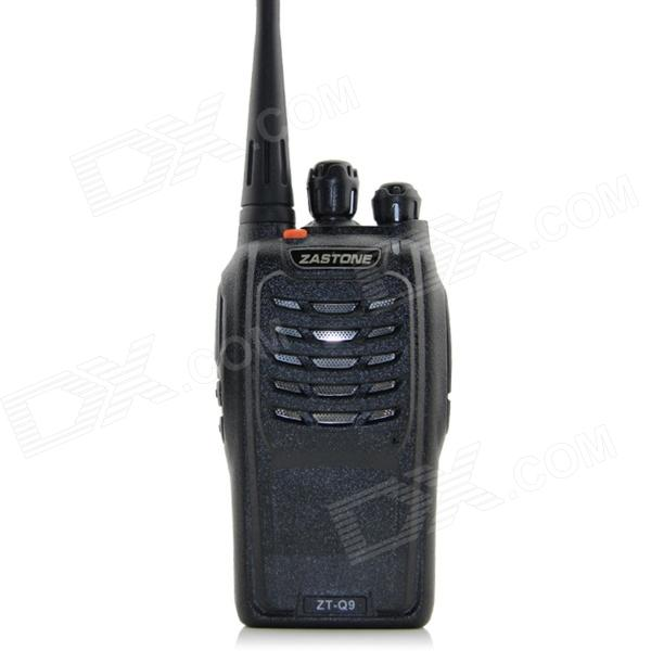 ZASTONE ZT-Q9  UHF Professional Radio Walkie Talkie - Black zastone t 2000 uhf16 ch radio walkie talkie w flashlight black