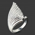 Stylish Angle's Wing Style 925 Silver Plated Ring - Silver (Size 7)