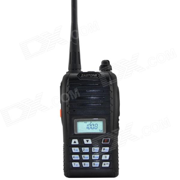 Zastone ZT-Q5 UHF / VHF 99-CH Radio / Walkie Talkie w/ 1.4 LCD Display - Black
