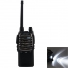 Zastone T-2000 UHF16-CH Radio / Walkie Talkie w/ Flashlight - Black