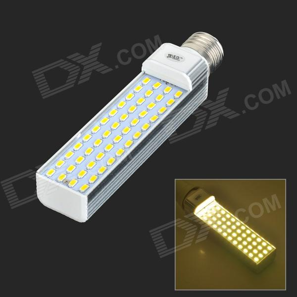 JRLED E27 14W 900lm 3300K 48-5730 SMD LED Warm White Light Bulb - Silver + White (AC 85~265V) lexing e14 7w 540lm 14 smd 5730 led warm white light bulb ac 85 265v