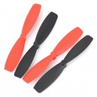 JJRC 1000-1006 Mini Wireless R / C Quadcopter Blade Set für 385.H107 Serie - Schwarz + Rot