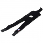 LP LP788 Outdoor Sports Adjustable Synthetic Rubber + Stretch Nylon Knee Support Pad - Black