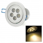 TDL-24005 5W 400lm 3000K 5-LED Warm White Ceiling Lamp - Silver (AC 85~265V)