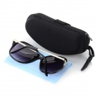 Ladies' / Women's Fashionable UV400 Protection Cellulose Acetate Frame Resin Lens Sunglasses - Black
