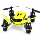 JXD JD395 Mini 2.4GHz 4-CH Outdoor R/C Quadcopter w/ Light + Gyro - Yellow + Black (2 x AAA)