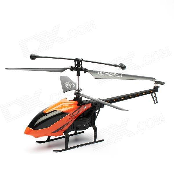 J045-1 3.5-CH IR Remote R/C Helicopter w/ Gyroscope - Black + Orange