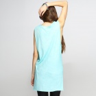 Catwalk88 Women's Fashionable Casual Summer Sleeveless Cotton Vest - Sky Blue (Size M)