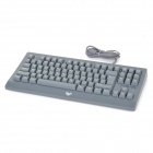 AULA ELKX01 USB 2.0 Wired 87-key Cyan Switch Mechanical Keyboard for Game Play - Grey