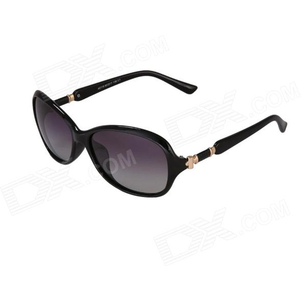 Reedoon 40119 Women's Fashionable UV400 Protection Sunglasses - Black reedoon 1417 trend of the goddess hip hop sunshade sunglasses black golden
