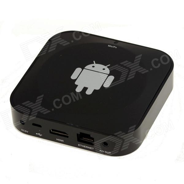ROCS RSTWT01 firekjerners Android 4.2.2 Smart TV boks med Bluetooth / 1GB RAM / 8GB ROM / Wi-Fi - svart