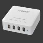 ORICO DCE-4U Universal 4-Port USB 2.0 Charger w/ Cable for  IPAD / Mobile Phone / Tablet  - White