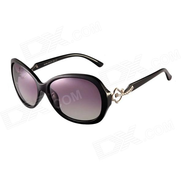 Reedoon 30106 Women's Stylish Rhinestone Studded UV400 Sunglasses - Black reedoon 1417 trend of the goddess hip hop sunshade sunglasses black golden