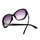 Reedoon 30106 Women's Stylish Rhinestone Studded UV400 Sunglasses - Black